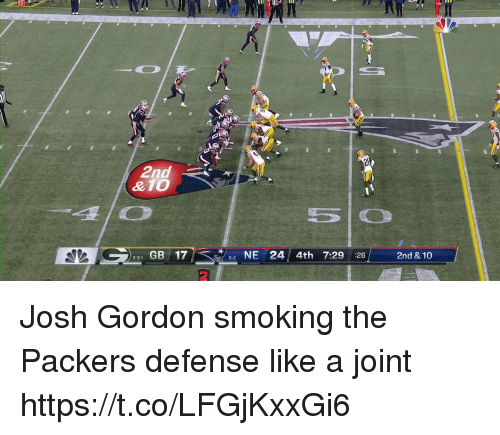 24c86f86d Memes, Smoking, and Josh Gordon: 2nd &10 lo 331 GB 17 NE 24