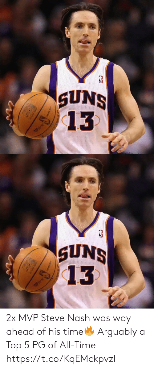 steve: 2x MVP Steve Nash was way ahead of his time🔥  Arguably a Top 5 PG of All-Time https://t.co/KqEMckpvzl