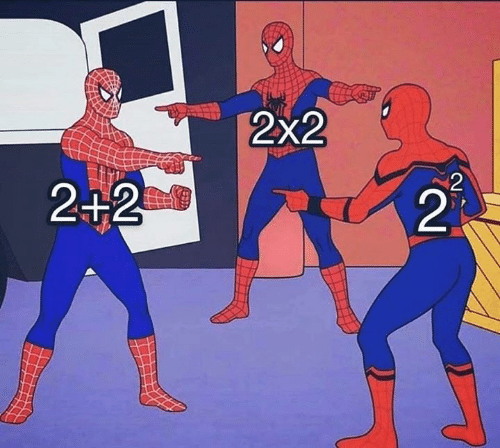 Memes, 🤖, and 2 2: 2x2  2  2+2  21