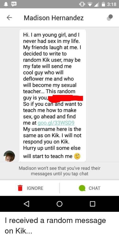 How to find hoes on kik