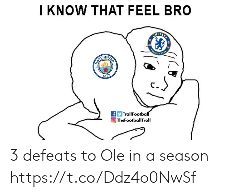 In A: 3 defeats to Ole in a season https://t.co/Ddz4o0NwSf