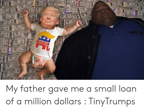 Tinytrumps: 3  MAKE NAP  GREAT AGAIN My father gave me a small loan of a million dollars : TinyTrumps