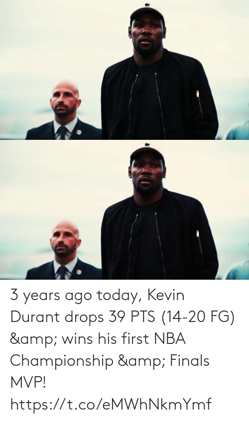 Drops: 3 years ago today, Kevin Durant drops 39 PTS (14-20 FG) & wins his first NBA Championship & Finals MVP!   https://t.co/eMWhNkmYmf