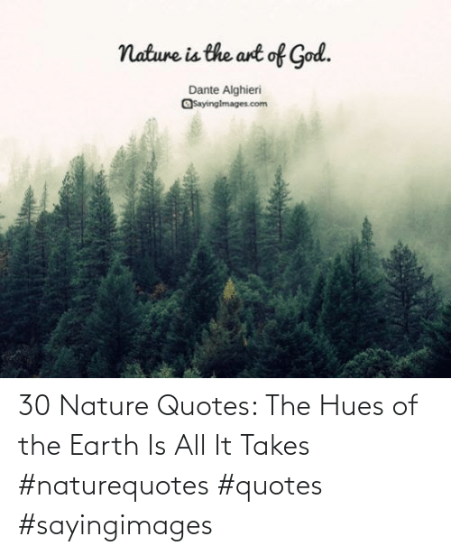Takes: 30 Nature Quotes: The Hues of the Earth Is All It Takes #naturequotes #quotes #sayingimages