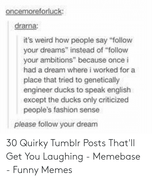 Posts: 30 Quirky Tumblr Posts That'll Get You Laughing - Memebase - Funny Memes