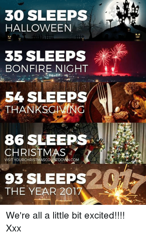 christmas halloween and memes 30 sleeps halloween 35 sleeps bonfire night 54 sleeps - Halloween Thanksgiving Christmas