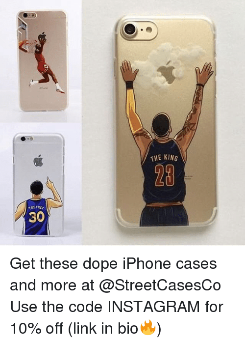 iphone case: 30  THE KING Get these dope iPhone cases and more at @StreetCasesCo Use the code INSTAGRAM for 10% off (link in bio🔥)