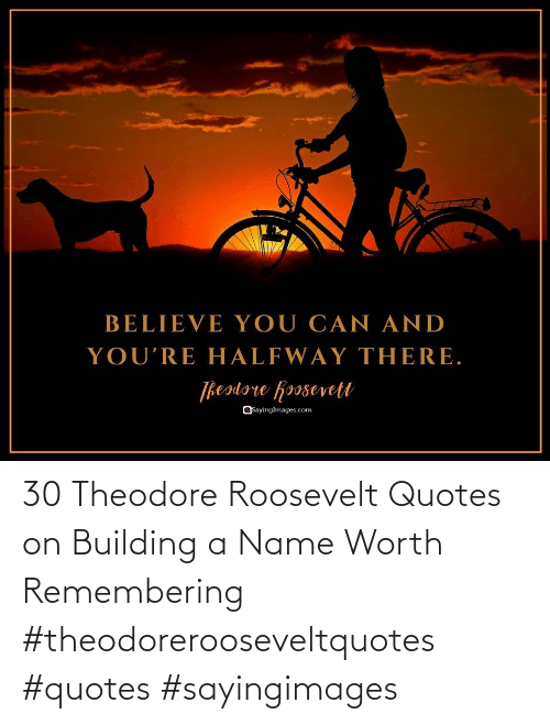 building: 30 Theodore Roosevelt Quotes on Building a Name Worth Remembering #theodorerooseveltquotes #quotes #sayingimages