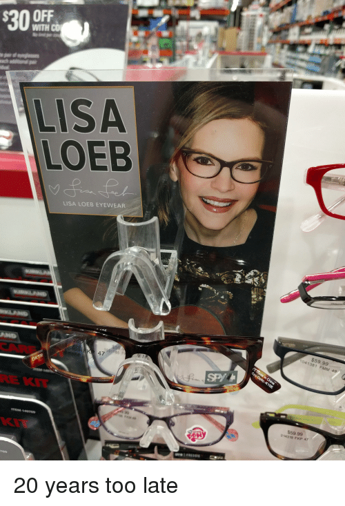 7663401a0df  30 WITH CO LISA LOEB LISA LOEB EYEWEAR or 35999 FMM 49  5999 24319 ...