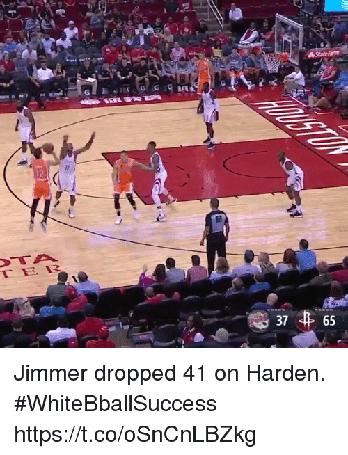 Basketball, White People, and Harden: 37  65 Jimmer dropped 41 on Harden. #WhiteBballSuccess https://t.co/oSnCnLBZkg