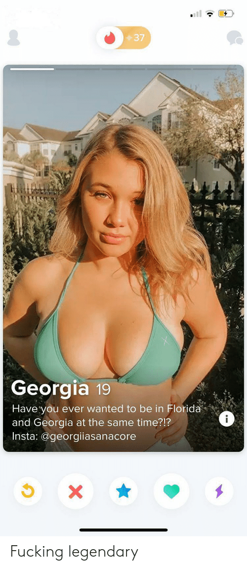 Georgia: 37  Georgia 19  Have you ever wanted to be in Florida  and Georgia at the same time?!?  Insta: @georgiiasanacore  i  X Fucking legendary
