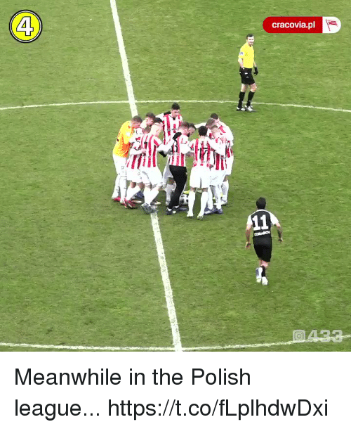 Soccer, League, and Polish: 4  cracovia.pl Meanwhile in the Polish league... https://t.co/fLplhdwDxi