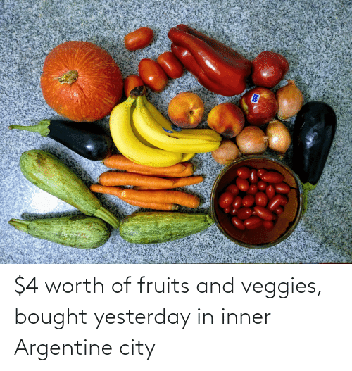 argentine: $4 worth of fruits and veggies, bought yesterday in inner Argentine city