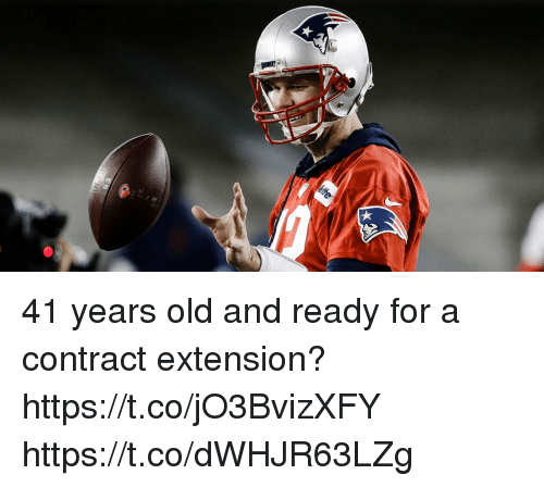 Memes, Old, and 🤖: 41 years old and ready for a contract extension? https://t.co/jO3BvizXFY https://t.co/dWHJR63LZg