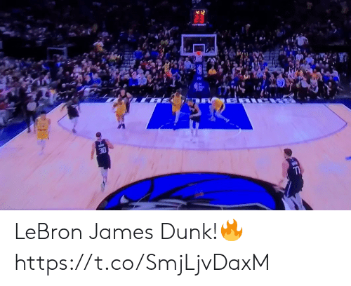 LeBron James: 412  TATISSOT  30 LeBron James Dunk!🔥 https://t.co/SmjLjvDaxM