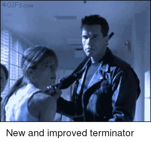 Terminator, Com, and New: 4GIFS.com New and improved terminator