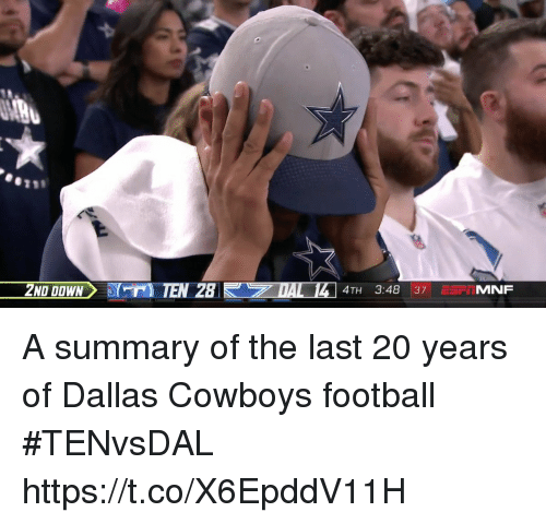 Dallas Cowboys: 4TH 3:48 37 ErIMNF A summary of the last 20 years of Dallas Cowboys football #TENvsDAL https://t.co/X6EpddV11H