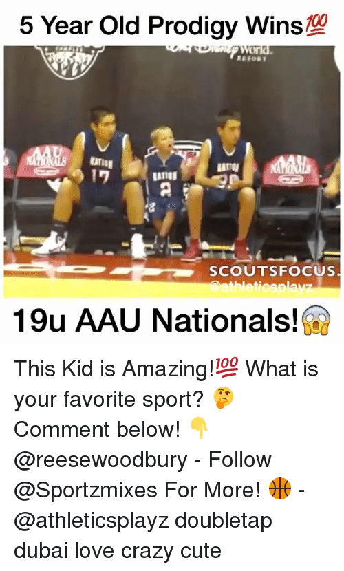 AAU: 5 Year Old Prodigy WinS  A  SCOUTS FOCUS  thleticsplav  19u AAU Nationals! This Kid is Amazing!💯 What is your favorite sport? 🤔 Comment below! 👇@reesewoodbury - Follow @Sportzmixes For More! 🏀 - @athleticsplayz doubletap dubai love crazy cute