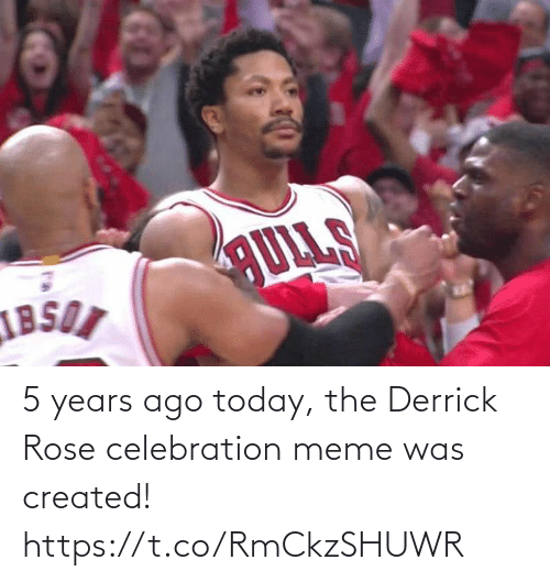 Rose: 5 years ago today, the Derrick Rose celebration meme was created! https://t.co/RmCkzSHUWR