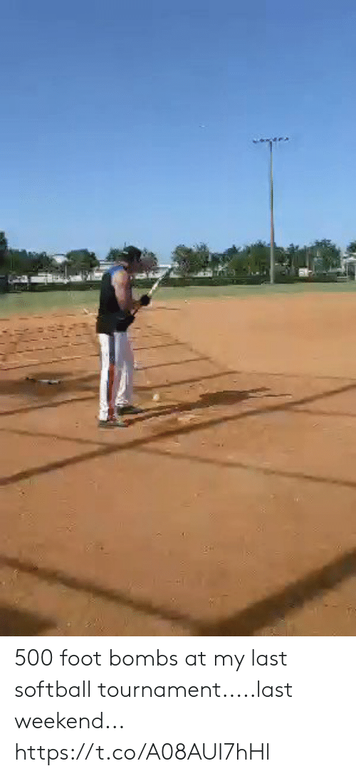 bombs: 500 foot bombs at my last softball tournament.....last weekend... https://t.co/A08AUI7hHl