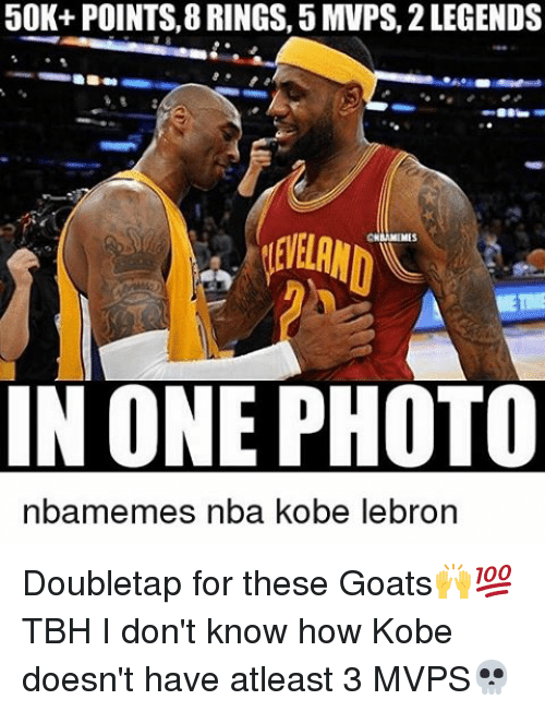 Kobe Lebron: 50K+ POINTS, 8 RINGS, 5 MVPS, 2 LEGENDS  IN ONE PHOTO  emes nba kobe lebron Doubletap for these Goats🙌💯 TBH I don't know how Kobe doesn't have atleast 3 MVPS💀
