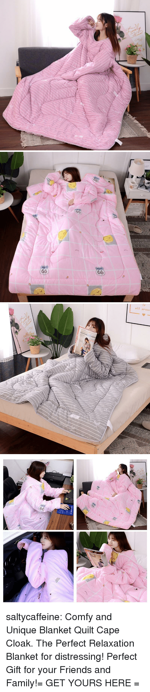 relaxation: 6  6   oll arour saltycaffeine:  Comfy and Unique Blanket Quilt Cape Cloak. The Perfect Relaxation Blanket for distressing! Perfect Gift for your Friends and Family!= GET YOURS HERE =