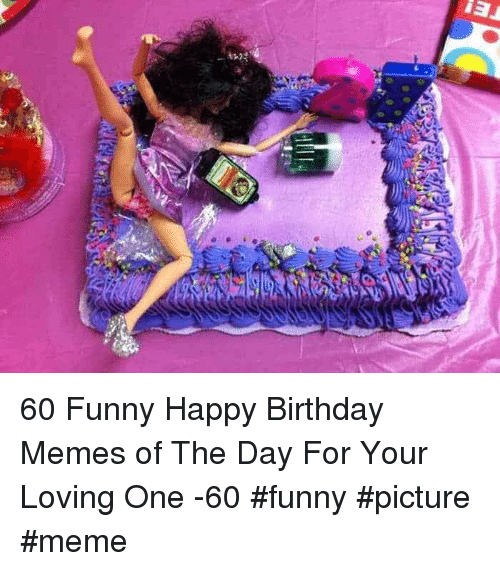 Birthday, Funny, and Meme: 60 Funny Happy Birthday Memes of The Day For Your Loving One -60 #funny #picture #meme
