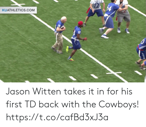 Dallas Cowboys, Football, and Nfl: 64  KUATHLETICS.COM Jason Witten takes it in for his first TD back with the Cowboys! https://t.co/cafBd3xJ3a