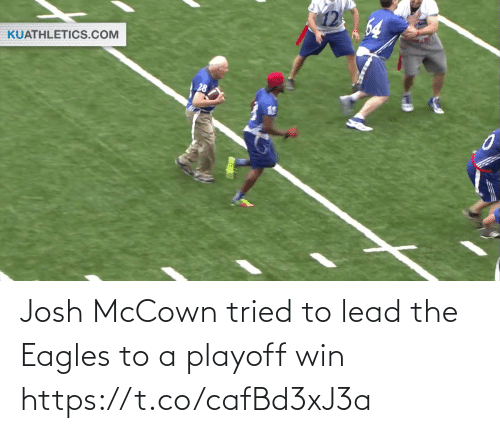 ballmemes.com: 64  KUATHLETICS.COM Josh McCown tried to lead the Eagles to a playoff win https://t.co/cafBd3xJ3a