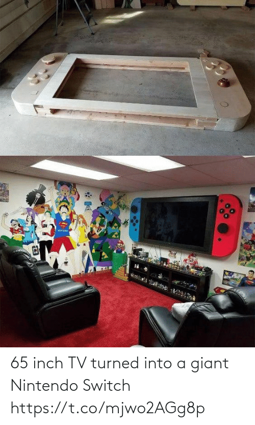 Turned: 65 inch TV turned into a giant Nintendo Switch https://t.co/mjwo2AGg8p