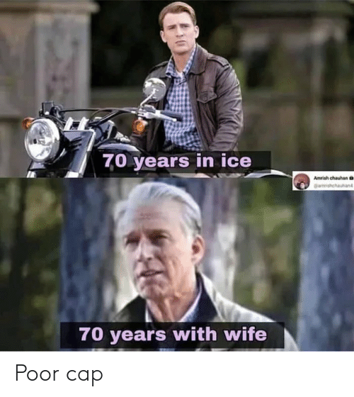 Wife, Ice, and Cap: 7,0 years in ice  Amrish chauhan D  Gamrishchautan  70 years with wife Poor cap