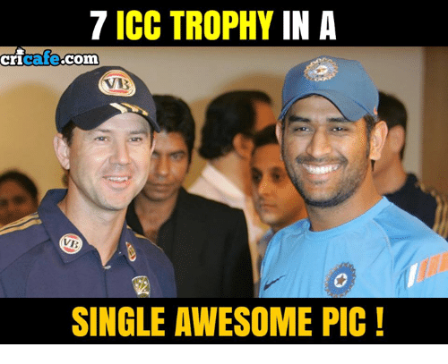 icc: 7 ICC TROPHY IN A  cricate com  ricafe.com  SINGLE AWESOME PIC!