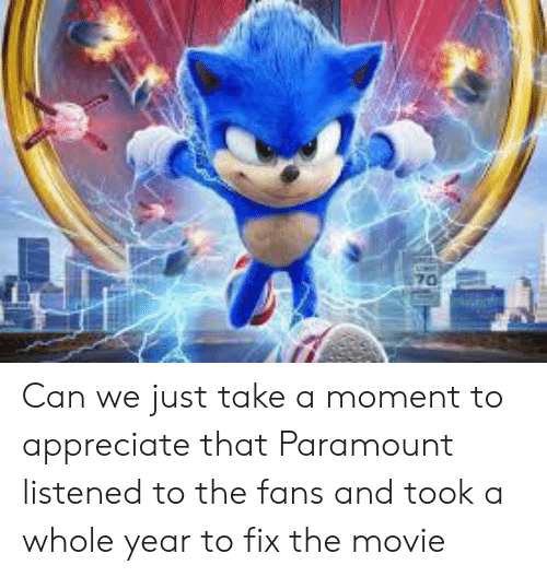 Listened: 70 Can we just take a moment to appreciate that Paramount listened to the fans and took a whole year to fix the movie
