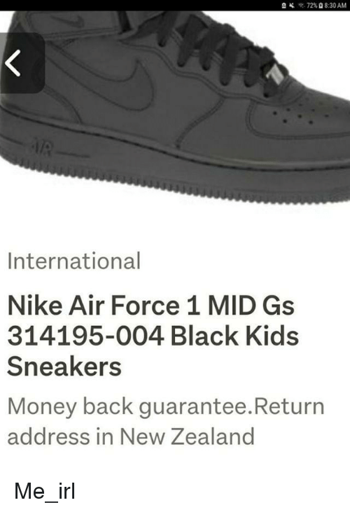 buy popular 0b4d0 56627 8 30 AM International Nike Air Force 1 MID Gs 314195-004 Black Kids  Sneakers Money back guarantee.Return address in New Zealand