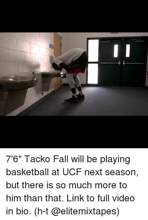 """Basketball, Fall, and Sports: 7'6"""" Tacko Fall will be playing basketball at UCF next season, but there is so much more to him than that. Link to full video in bio. (h-t @elitemixtapes)"""