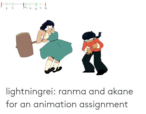assignment: 79  13  15 17  19 lightningrei:  ranma and akane for an animation assignment