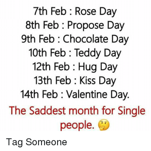 7th Feb Rose Day 8th Feb Propose Day 9th Feb Chocolate Day 10th Feb