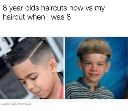 Haircut, Haircuts, and Now: 8 year olds haircuts now vs my  haircut when I was 8