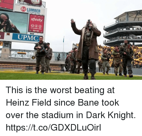 Bane, Internet, and The Worst: 84  xfinity  TV I INTERNET VOICE  UPMC This is the worst beating at Heinz Field since Bane took over the stadium in Dark Knight. https://t.co/GDXDLuOirl