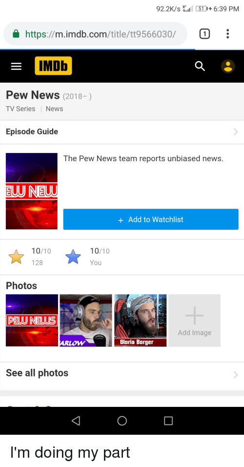 922Ks51639 PM a Httpsmimdbcomtitlett9566030 IMDb Pew News 2018- TV