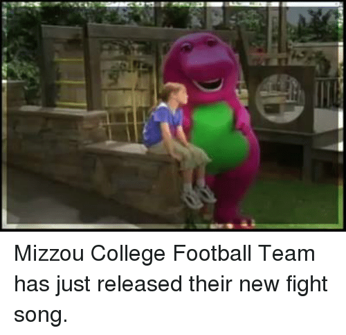 mizzou: Mizzou College Football Team has just released their new fight song.