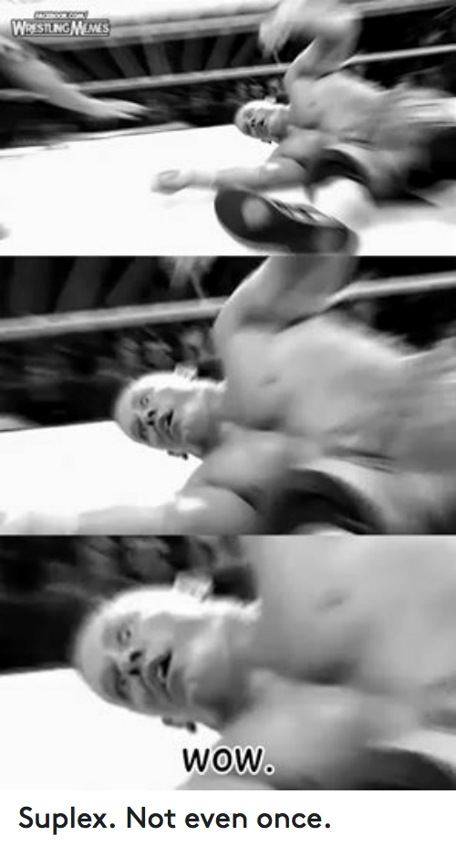 Suplexed: WigN NES  sTLNG  WOW Suplex. Not even once.