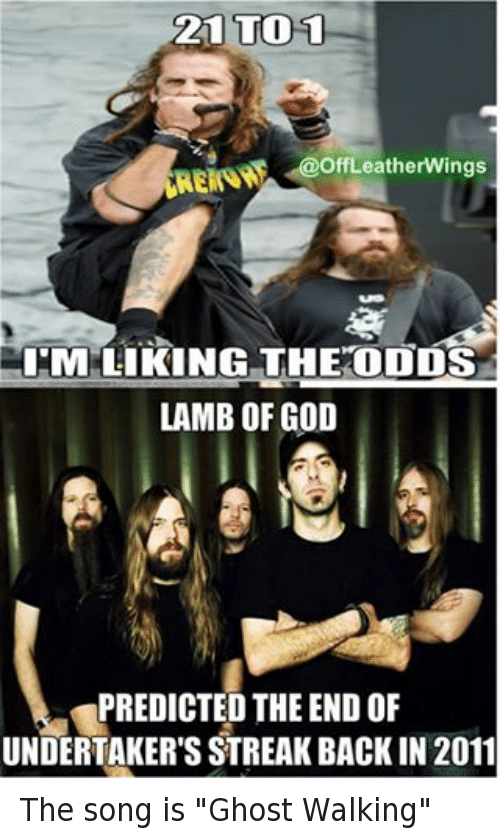21 To 1 Leatherwings Erin Atm Liking The Odds Lamb Of God Predicted
