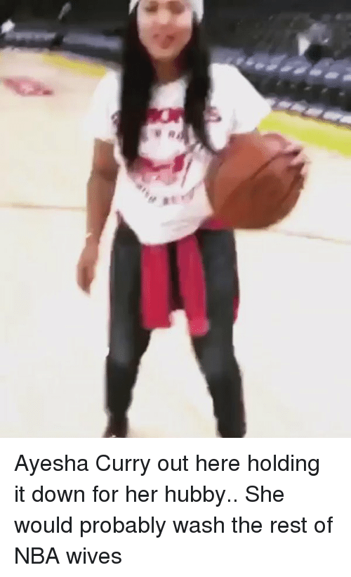 """Ayesha Curry: '-,""""イ Ayesha Curry out here holding it down for her hubby.. She would probably wash the rest of NBA wives"""
