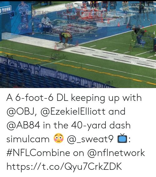 Keeping Up With: A 6-foot-6 DL keeping up with @OBJ, @EzekielElliott and @AB84 in the 40-yard dash simulcam 😳 @_sweat9  📺: #NFLCombine on @nflnetwork https://t.co/Qyu7CrkZDK