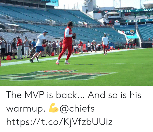 Memes, Bank, and Chiefs: A Bank  JAGUA  VS  CHIEFS  CHIEFS  VS  BUDUC  Y  ys  VS The MVP is back…  And so is his warmup. 💪@chiefs https://t.co/KjVfzbUUiz