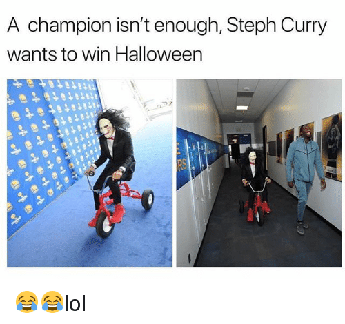 Halloween, Memes, and Steph Curry: A champion isn't enough, Steph Curry  wants to win Halloween 😂😂lol
