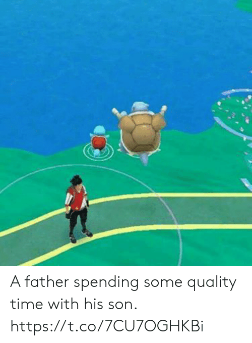 Time, Son, and Father: A father spending some quality time with his son. https://t.co/7CU7OGHKBi