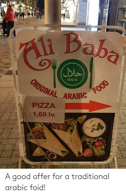 Arabic: A good offer for a traditional arabic foid!