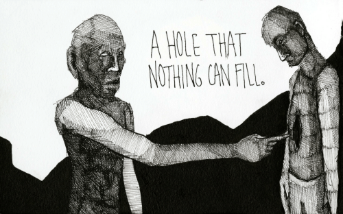 Can, Hole, and Nothing: A HOLE THAT  NOTHING CAN FIL